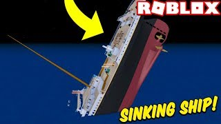 STUCK ON A SINKING SHIP!! (Roblox Titanic Simulator)