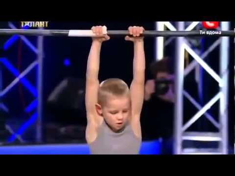 Маленький турникмен Украина мае талант