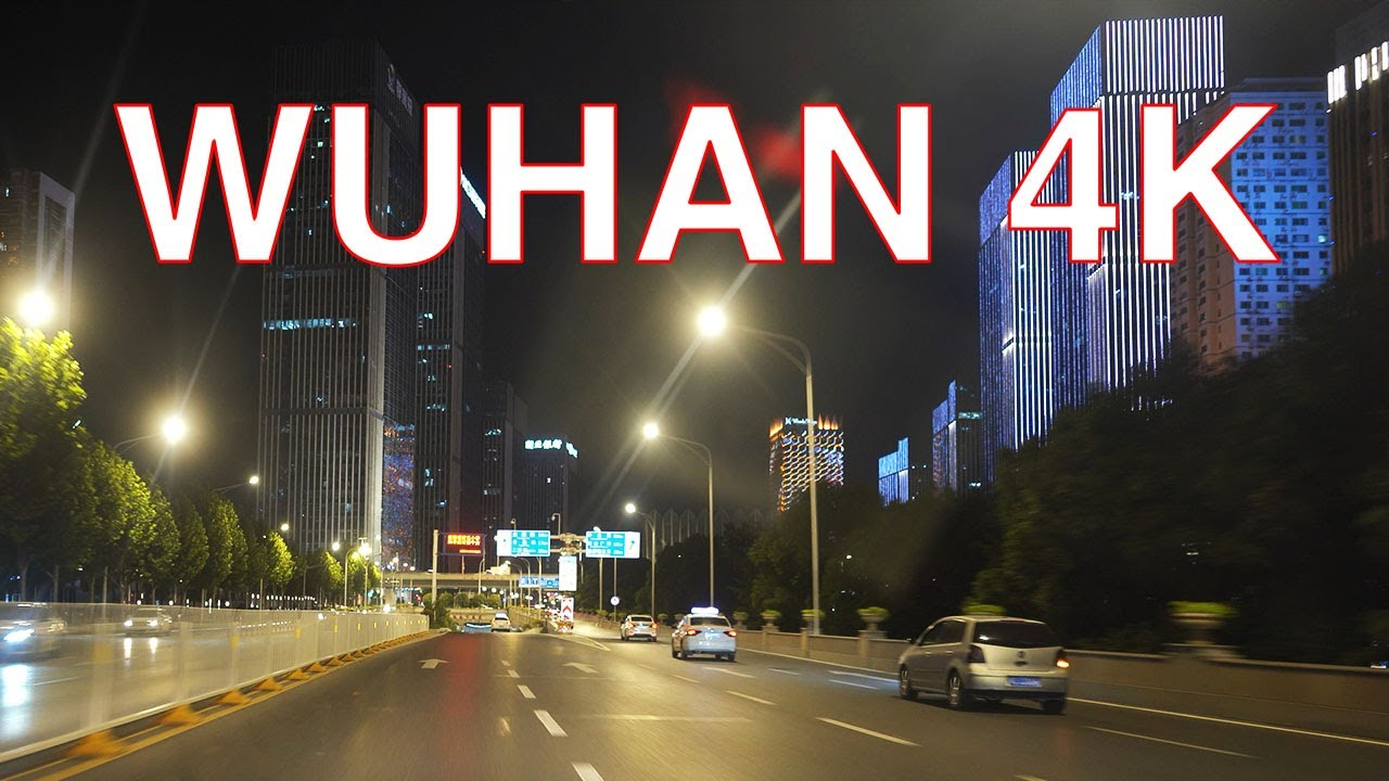 Wuhan 4K POV - Downtown Night Drive - Hubei - China 湖北武汉城市夜景