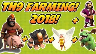 BEST TH9 FARMING ATTACK STRATEGY 2018! | TOWN HALL 9 FARMING  3 STAR ATTACK STRATEGY!
