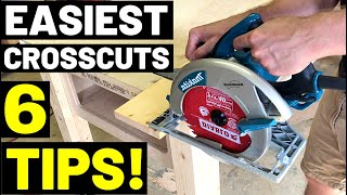 Circular Saw Basics: EASIEST CROSSCUTS!! (6 TIPS For Fastest, Easiest Circular Saw Crosscuts!)