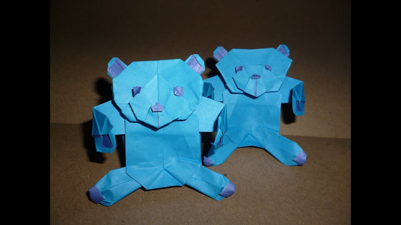Origami Teddy Bear Instructions Marc Kirschenbaum Youtube