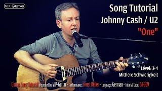 "Guitar Song Tutorial: ""One"" Johnny Cash / U2"
