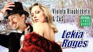 Violeta Riaubiškytė & ŽAS - Lekia Rogės (Official Lyric Video). Lietuviškos Dainos Su Žodžiais