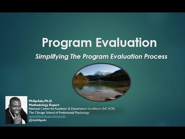 program evaluation dissertation