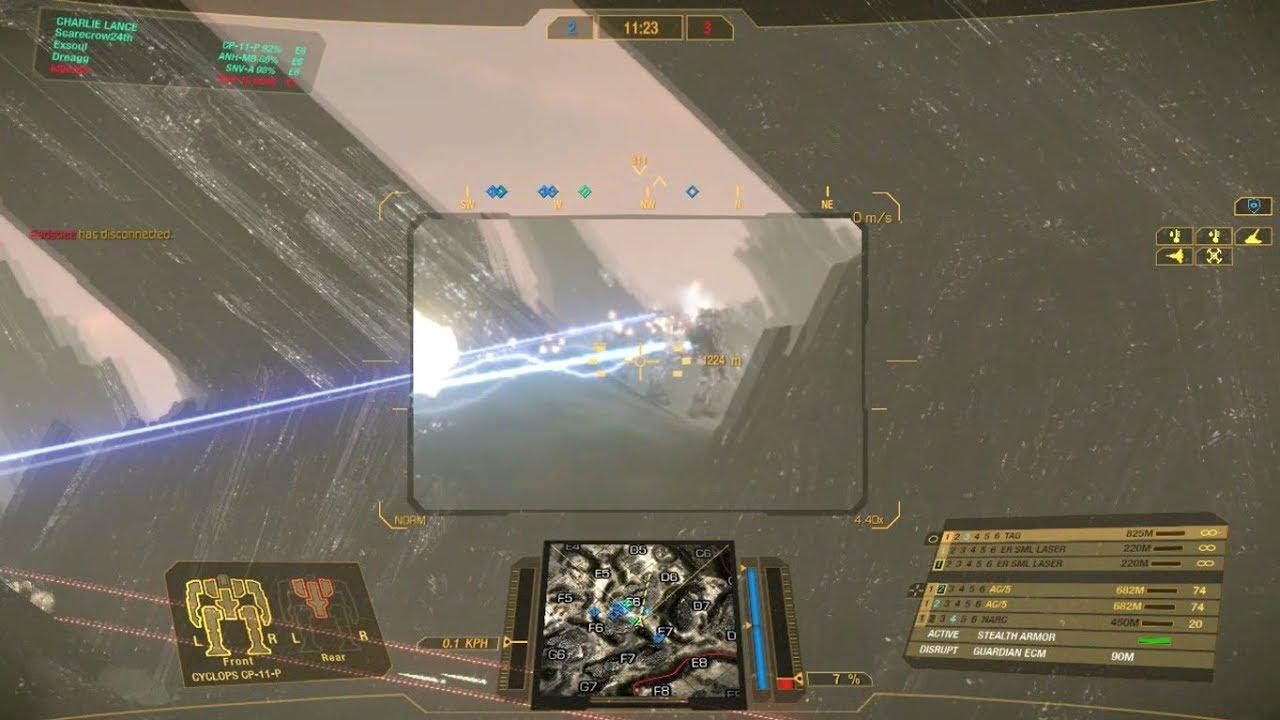 Mechwarrior Online Cyclops Cp 11 P Stealth Armor Ecm Gameplay 022