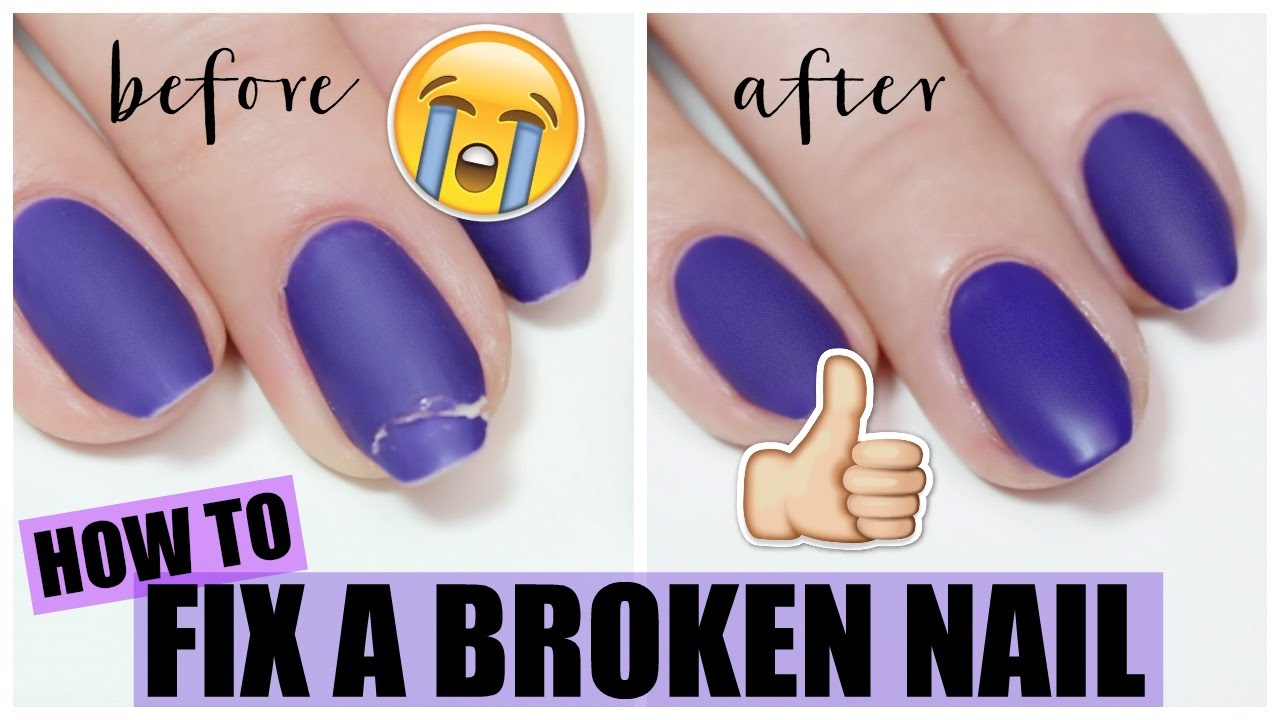 How To Fix A Broken Nail  The Nail Trail  YouTube
