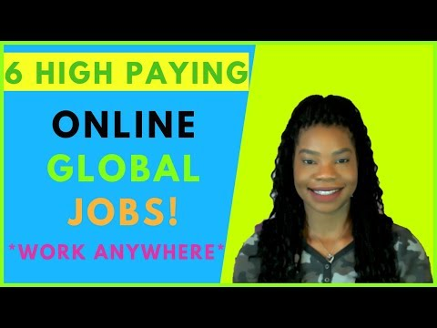 6 High Paying International Jobs! Online, Work At Home, Remote Jobs | 2019