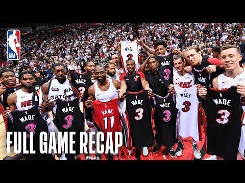 76ers-vs-heat-|-dwyane-wade's-last-game-in-miami-|-april-9,-2019