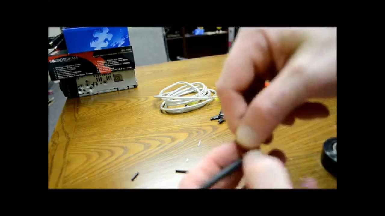 How to repair an RCA wire - Also works on component cables and VHF too