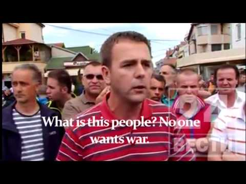 United Citizens after shootings in Kumanovo - Macedonia