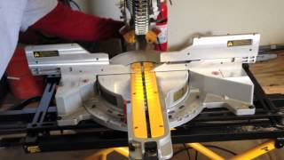 "Dewalt Dws780 12"" Double Bevel Sliding Compound Miter Saw And The Dwx726 Rolling Stand"