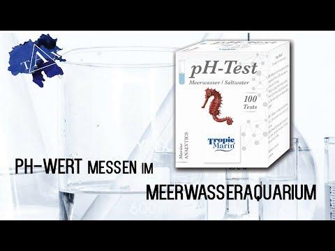 PH-Wert MESSEN im MEERWASSERAQUARIUM /TAX