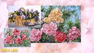 Цветы из солёного теста (красивые поделки, чудеса из солёного теста, соленое тесто)