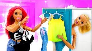 Игры одевалки - Барби выбирает одежду для колледжа. Видео для девочек