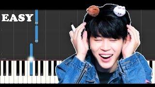 Jimin - Lie (EASY Piano Tutorial)