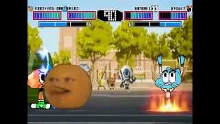 MUGEN : Oranges to Apples - Annoying Orange & Bloo vs Darwin & Gumball