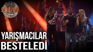 Sema, Merve ve Ümit Karan'dan Survivor Şarkısı   70.Bölüm   Survivor 2018
