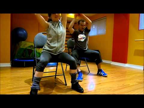 Cardio workout on a chair 1 (for people with bad/weak/injured knees)