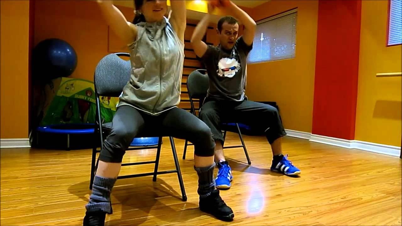 cardio workout on a chair 1 for people with bad weak injured knees