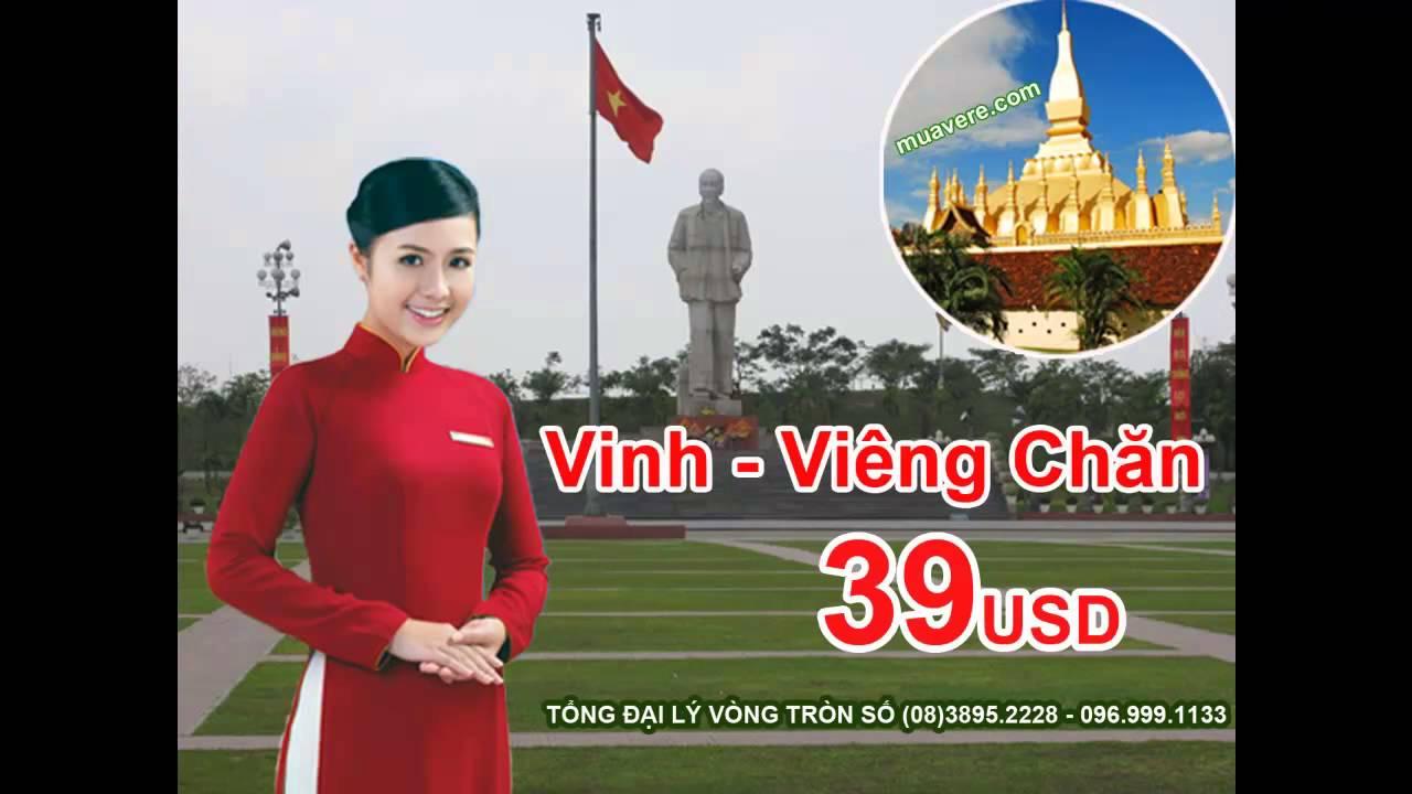 Bán vé máy bay VINH đi VIÊNG CHĂN giá rẻ 39USD [VietnamAirlines]