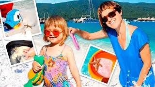 Отели Турции и лучший отдых с детьми Маша Капуки и Бьянка на пляже Семейный влог