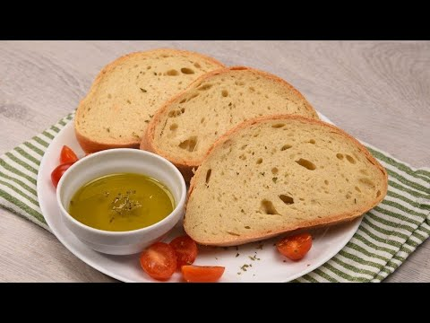 Homemade bread a fast recipe to make it crunchy