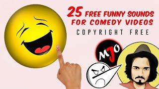 25 FREE Sounds Effects Copyright Free | Funny Sound Effects | Background Effects | Comedy Sounds