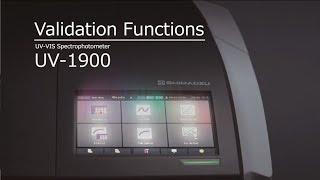 UV-1900 Validation Functions