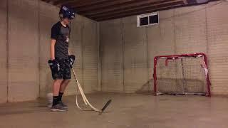 Gunner reviews his hockey sticks