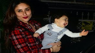 Taimur Ali Khan gets excited on seeing his reflection | Photos
