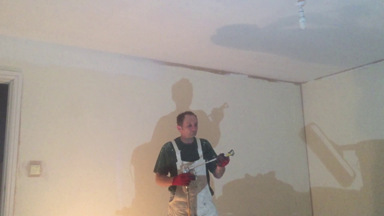 Delightful How To Paint A Ceiling With A Spray Gun Part - 14: Painting U0026 Decorating, How To Cut In Ceiling Lines With A Spray Gun