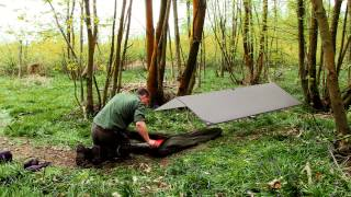 Lightweight Tarp And Bivvy Set Up