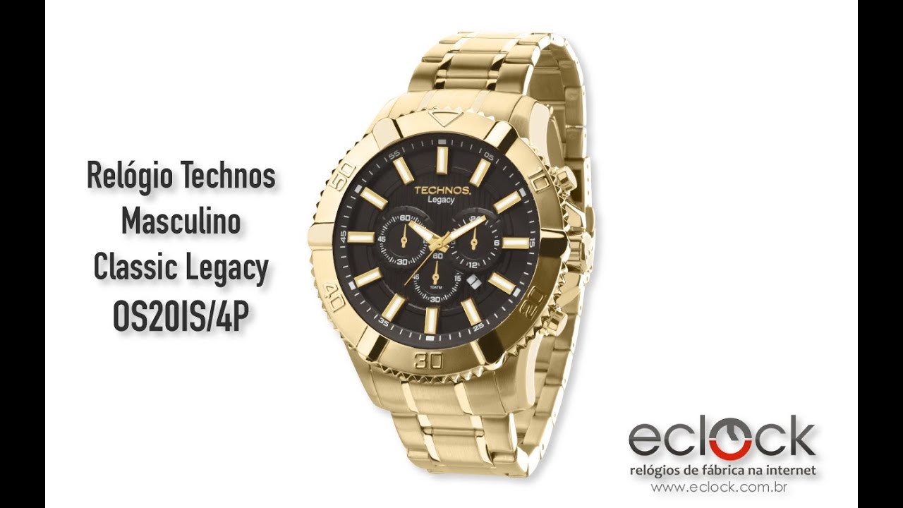 e24cdfe2c07ce Relógio Technos Masculino Classic Legacy OS20IS 4P - Eclock - YouTube