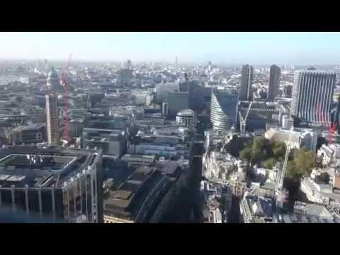 Wow!! Heron Tower 5mps High Speed Scenic Lift - Bishopsgate, London -9Nov14