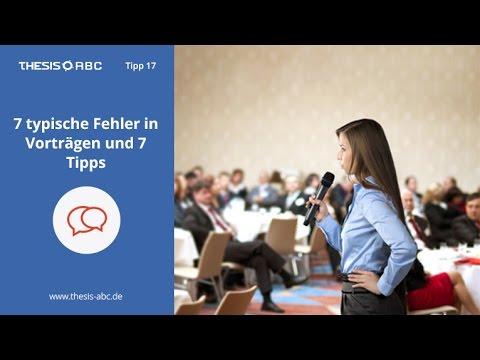 Thesis ABC Tipp 17: 7 typische Fehler in Vorträgen und 7 Tipps