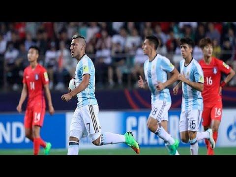 Mundial Sub 20 2017 - Corea 2 - 1 Argentina - Gol de Paik (penal)