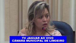 Sandra Lira Secretária de saúde de Limoeiro na câmara de vereadores