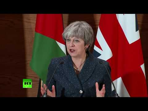 LIVE: May delivers speech and answers questions at presser in Jordan