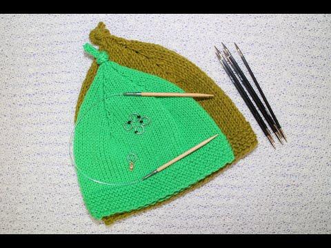 Knitting: วิธีถักหมวกเด็ก How to knit a little child hat (no sound)