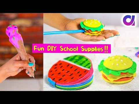 Cool DIY School Supplies Ideas You Can Make In 5 Minutes | Artkala