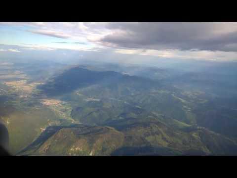 Landing Ljubljana airport Slovenia   9.5.2016