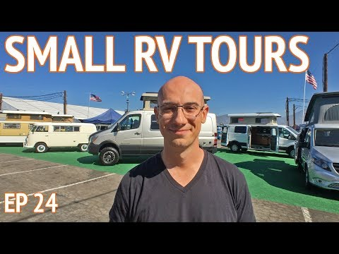 Small RV Tours at CA RV Show | EP 24 Camper Van Life