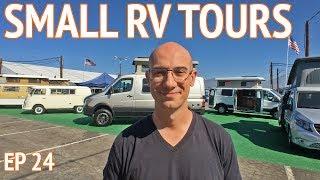 Small RV Tours at CA RV Show | Camper Van Life S1:E24