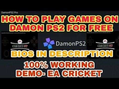 How to play games in damon ps2 pro after installing it | BIOS in  Description |