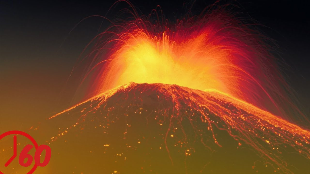 volcano facts A volcano is a hollow mountain when a volcano is over an opening in the earth, it erupts during a volcanic eruption, hot gasses and rocks flow or burst out of the volcano.