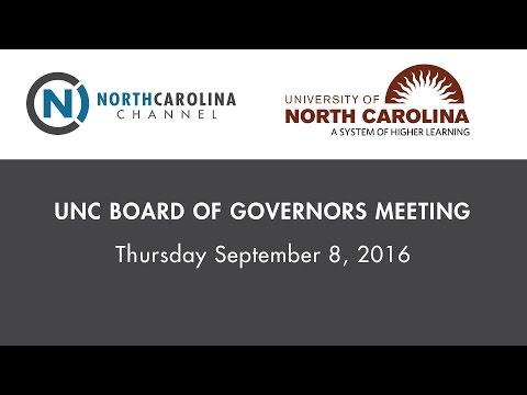 UNC BOG Meeting | Sept 8, 2016