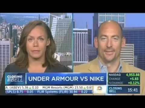 New Constructs CEO David Trainer on CBNC's Closing Bell: Nike vs. Under Armour