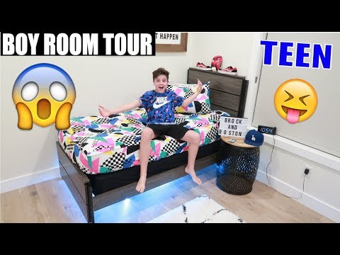 TEENAGE ROOM TOUR  2019 😱| Brock and Boston