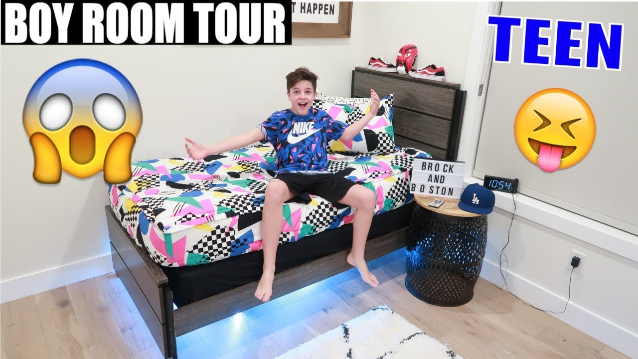 TEENAGE ROOM TOUR  2019 😱| Brock and Boston
